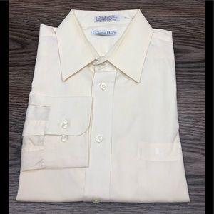Christian Dior Ecru Ivory Dress Shirt 16.5 32/33